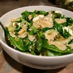Garlicky Farfalle with Marinated Feta & Arugula