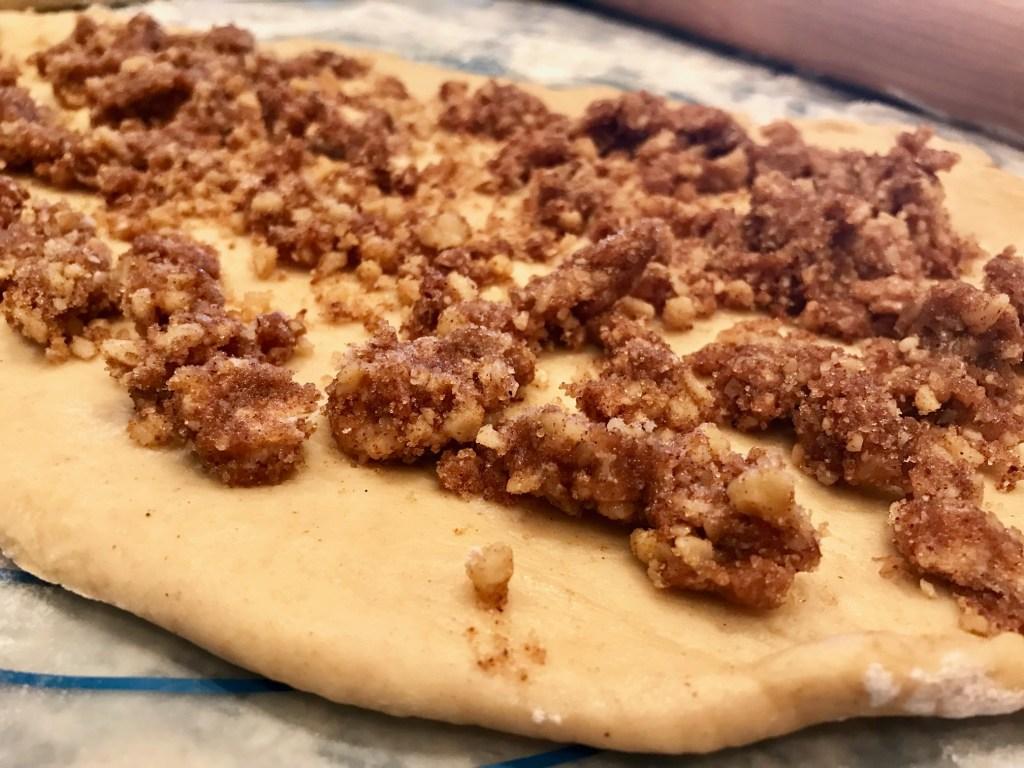 Cinnamon-Walnut Stuffed Challah Bread