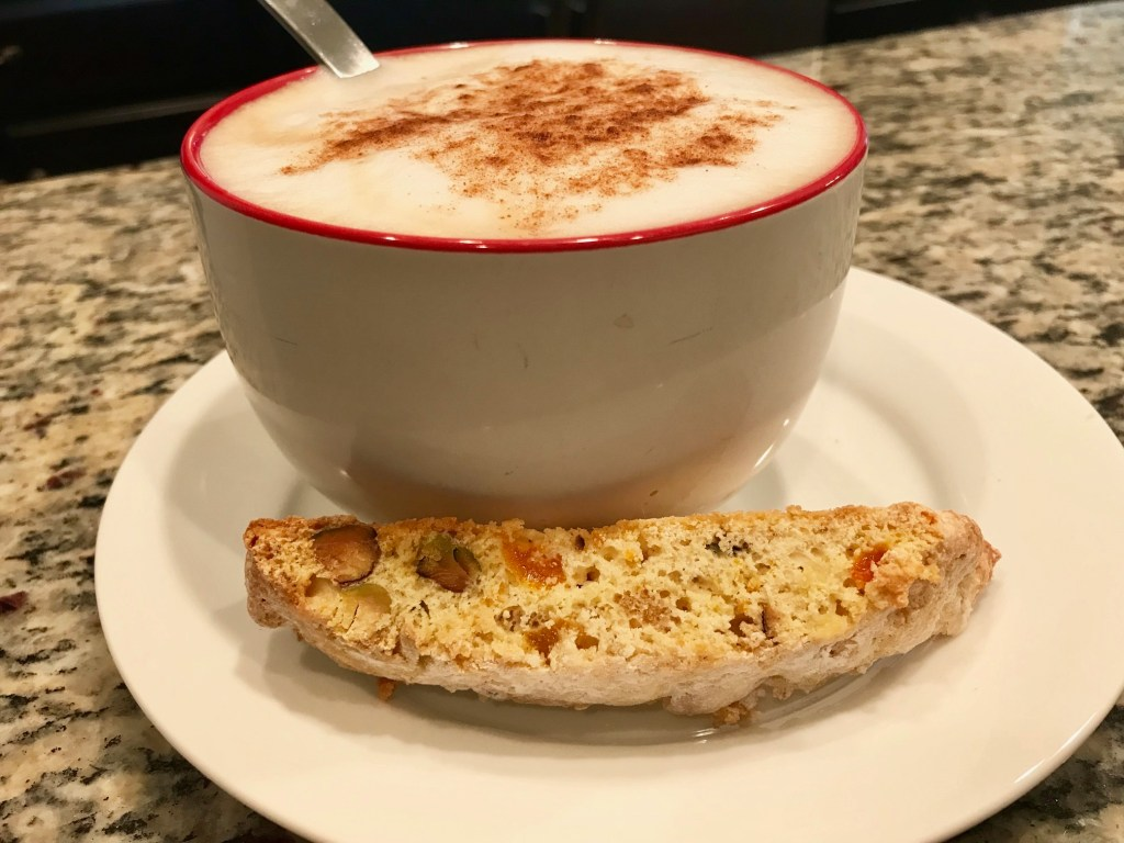 Orange, Apricot, & Pistachio Biscotti | delicious cookies for your coffee or tea, these biscotti are easy and super yummy, with a wonderful flavor combo. How to make great biscotti. #biscotti #baking #recipes