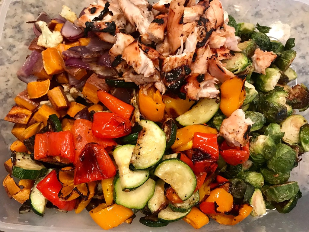 Roasted Vegetable & Grain Salad with Creamy Shallot Dressing   finding time for cooking