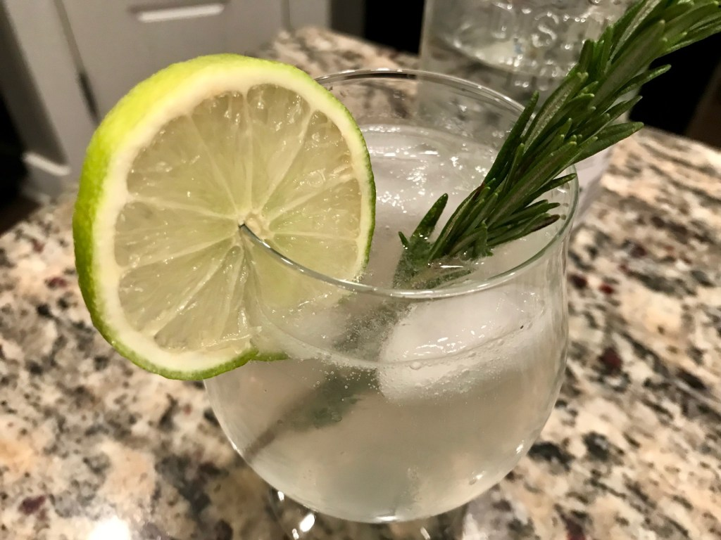Fizzy Rosemary Gimlet (Gin Cocktail) | This delicious gin cocktail pairs gin, fresh lime juice, and rosemary simple syrup with some tonic water for a refreshing and complex drink. And it's so easy to make!
