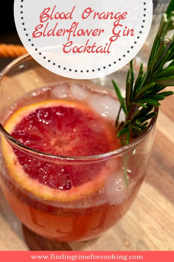 Elderflower Gin Blood Orange Cocktail | A perfect way to use up those delicious blood oranges, a refreshing spring cocktail! Perfect cocktail for brunch, a shower, or special occasion! #bloodorange #gin #elderflower #stgermain #cocktail