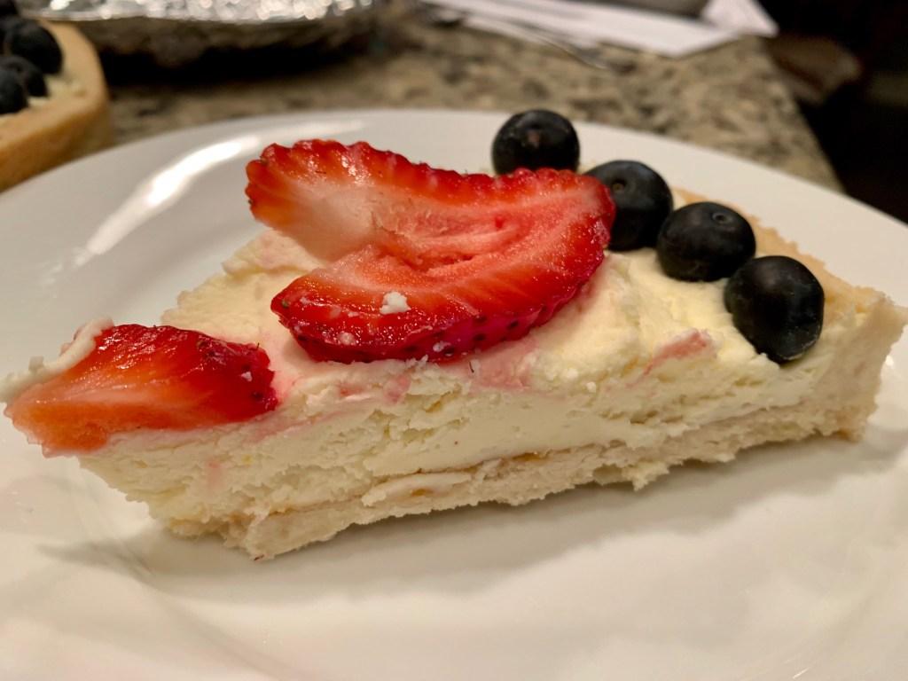 Unleavened dessert for Passover, easy mascarpone tart
