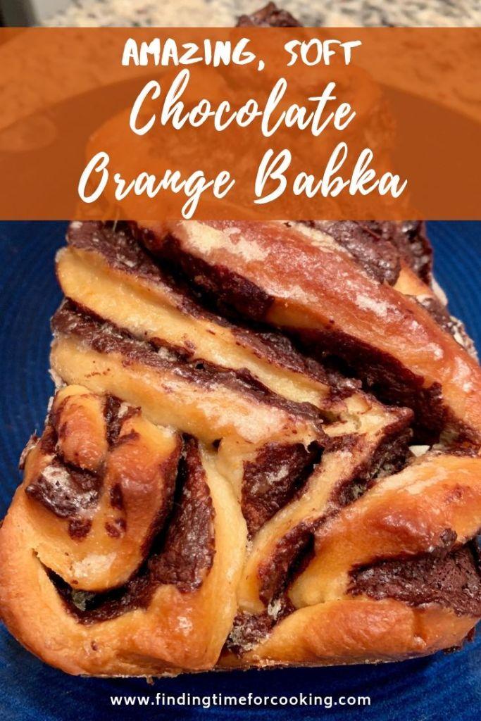 Chocolate Orange Babka pinterest image