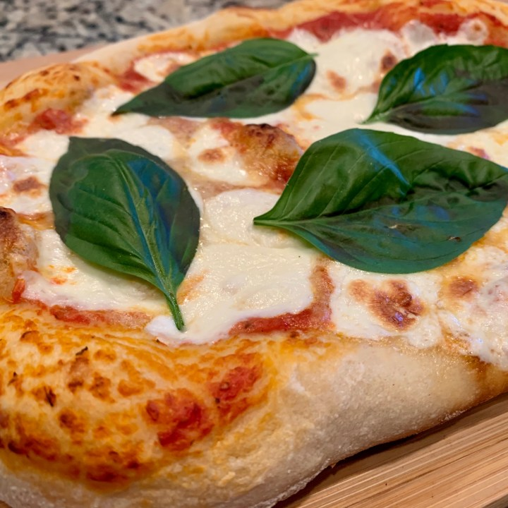 Traditional Grilled Margherita Pizza