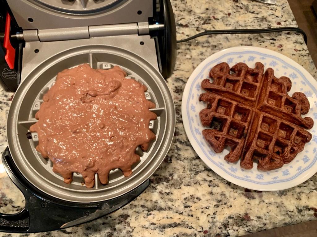 Cook the waffles until crisp