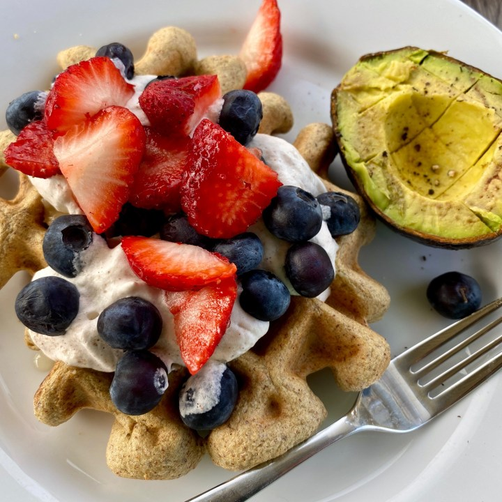 Single-Serving Almond Butter Waffle (GF, Keto-Friendly, Low Carb)