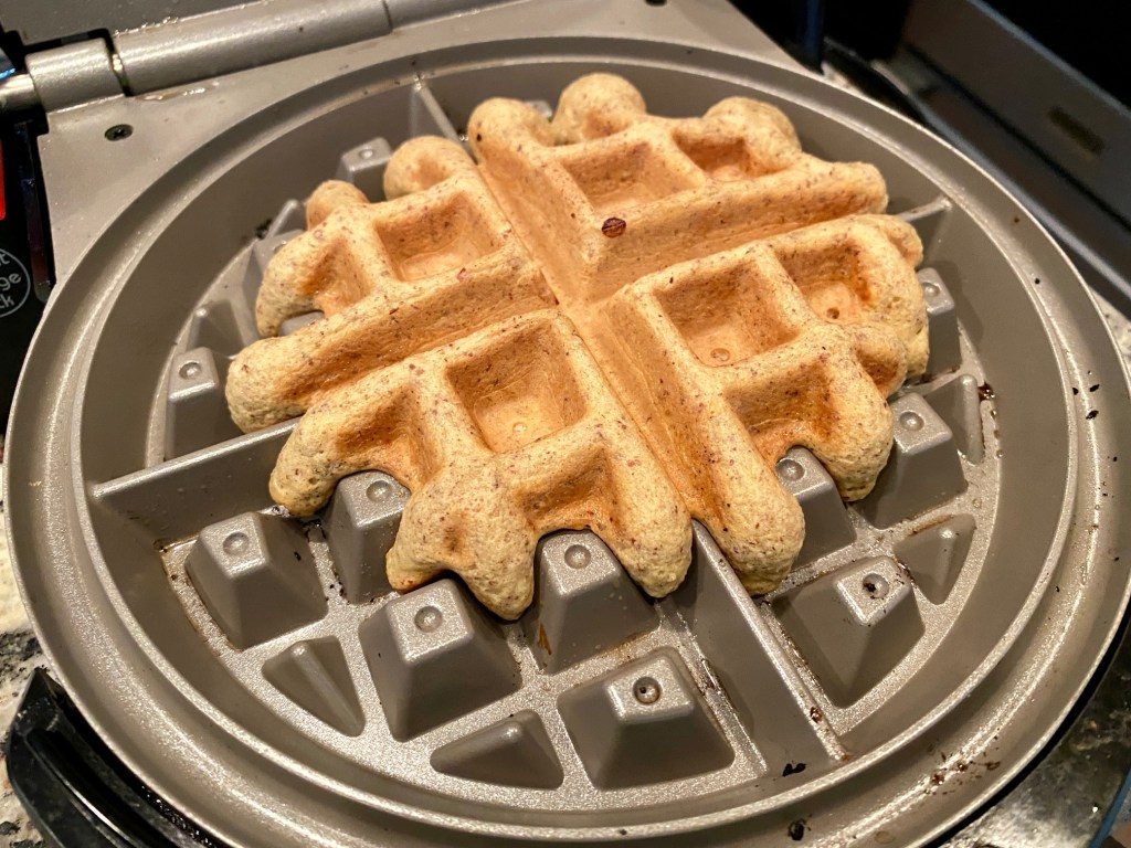 this low-carb waffle recipe only takes a few ingredients and five minutes