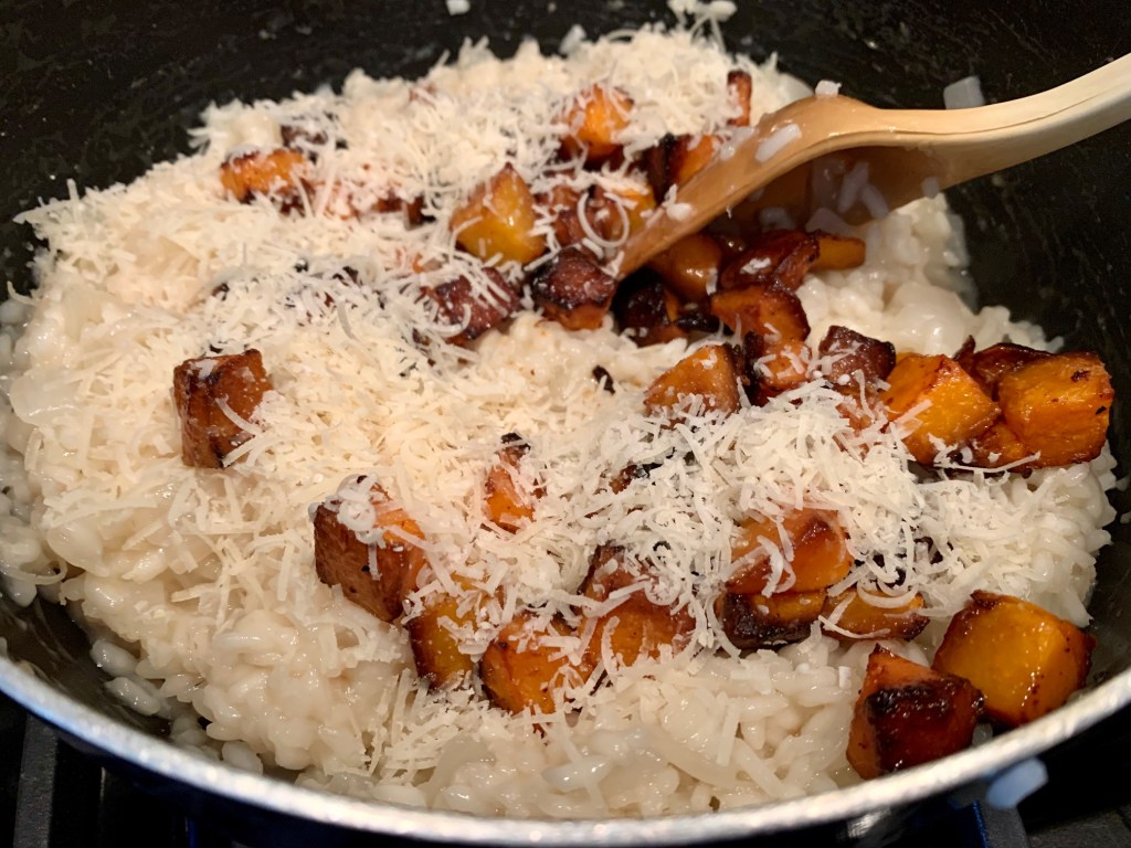 Roasted Butternut Squash Risotto with Fresh Basil | An easy risotto recipe | finding time for cooking