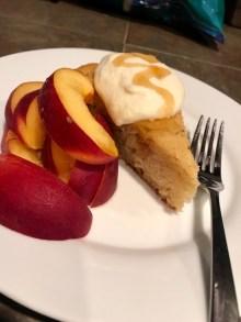 Yogurt & Honey Olive Oil Cake with Lemon & Fresh Thyme nectarines