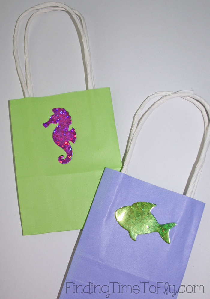mermaid under the sea gift bags-Detail
