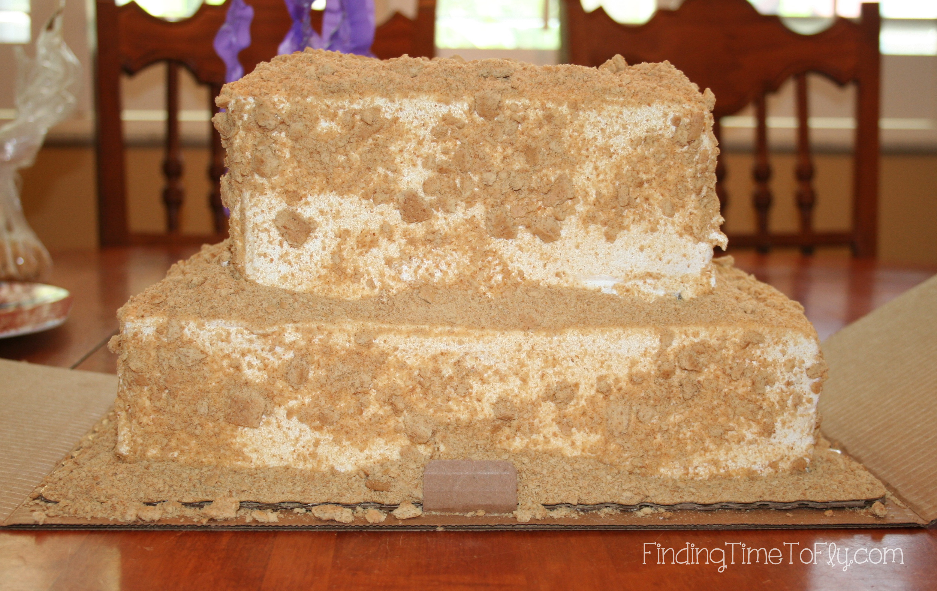 Undecorated Sandcastle Cake