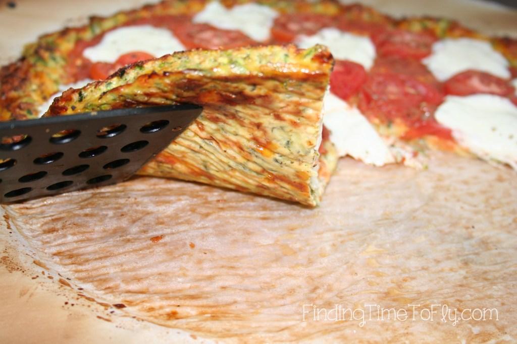Zucchini Crust Low Carb Pizza - crust