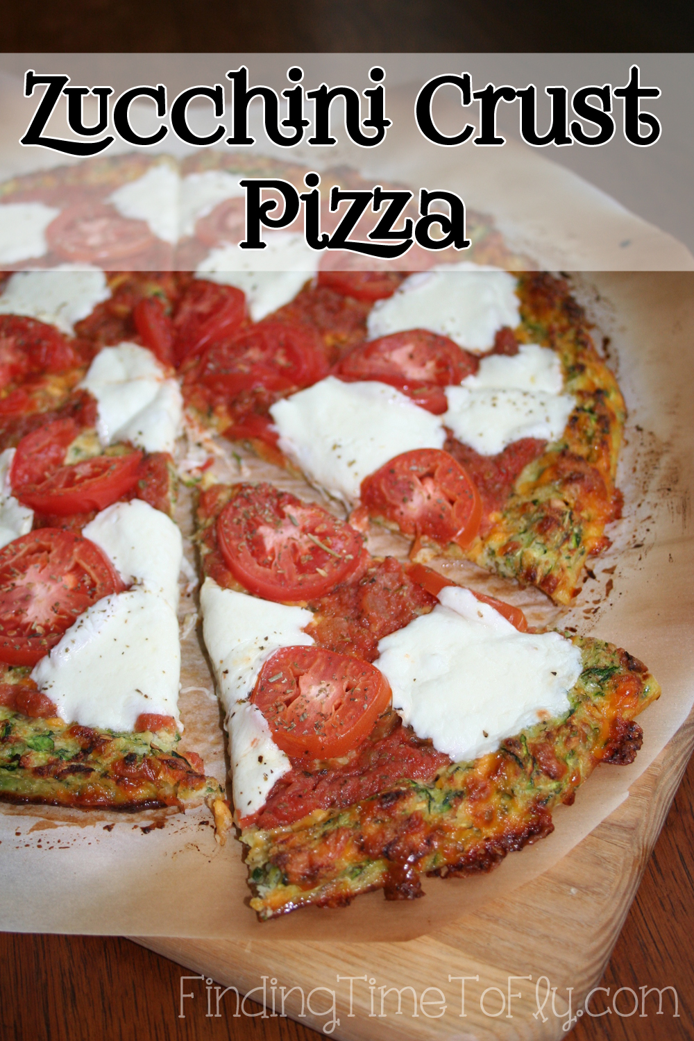 Zucchini Crust Low Carb Pizza