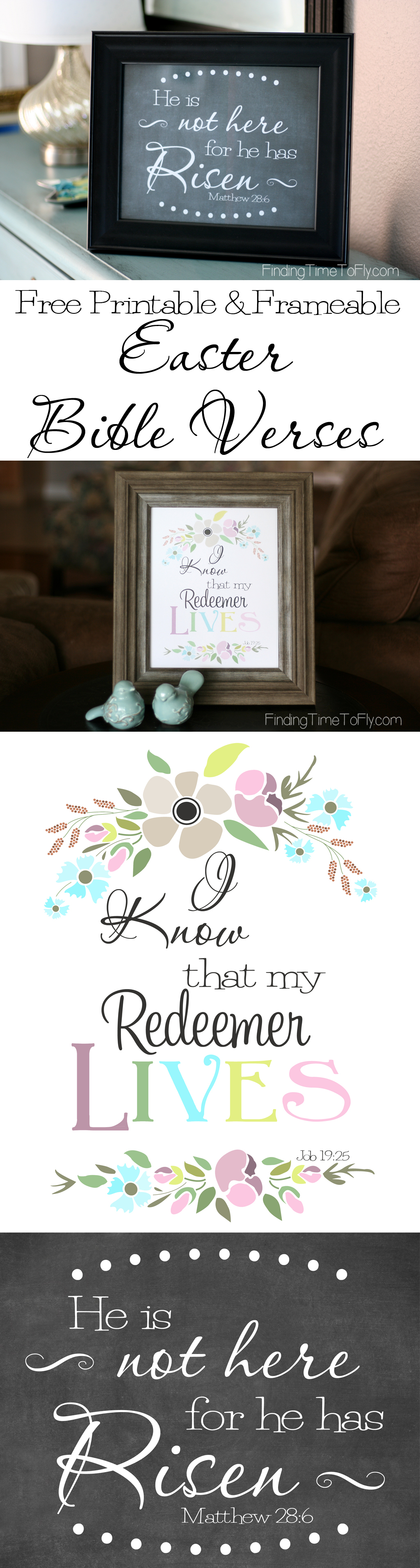 Free Printable Bible Verse for Easter - He Has Risen and Redeemer ...