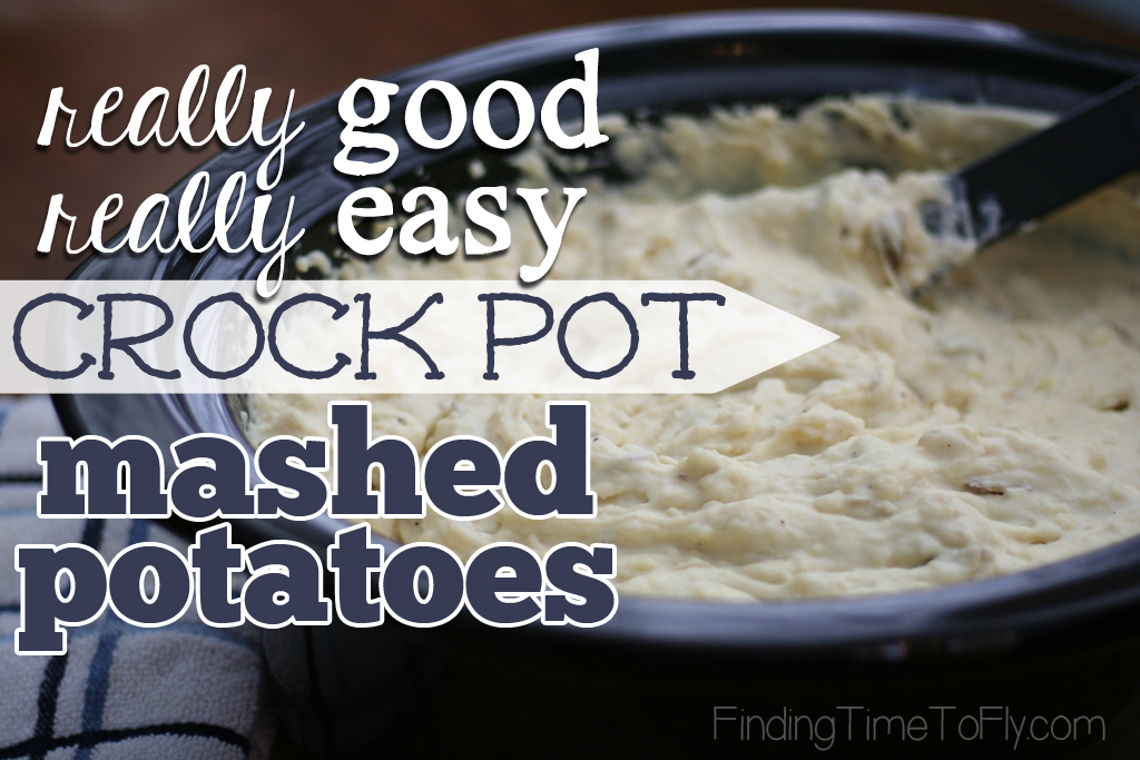 No peeling. No boiling. You'll seriously be volunteering to make these Really Easy Crock Pot Mashed Potatoes for every big family and friends gathering for the rest of your life! They are THAT EASY!