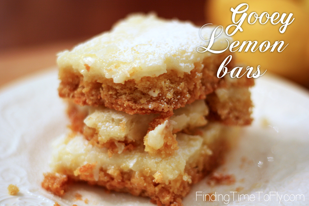 This recipe only has 6 ingredients. You could be indulging in these Gooey Lemon Bars in about an hour. Check out how simple they are to make!