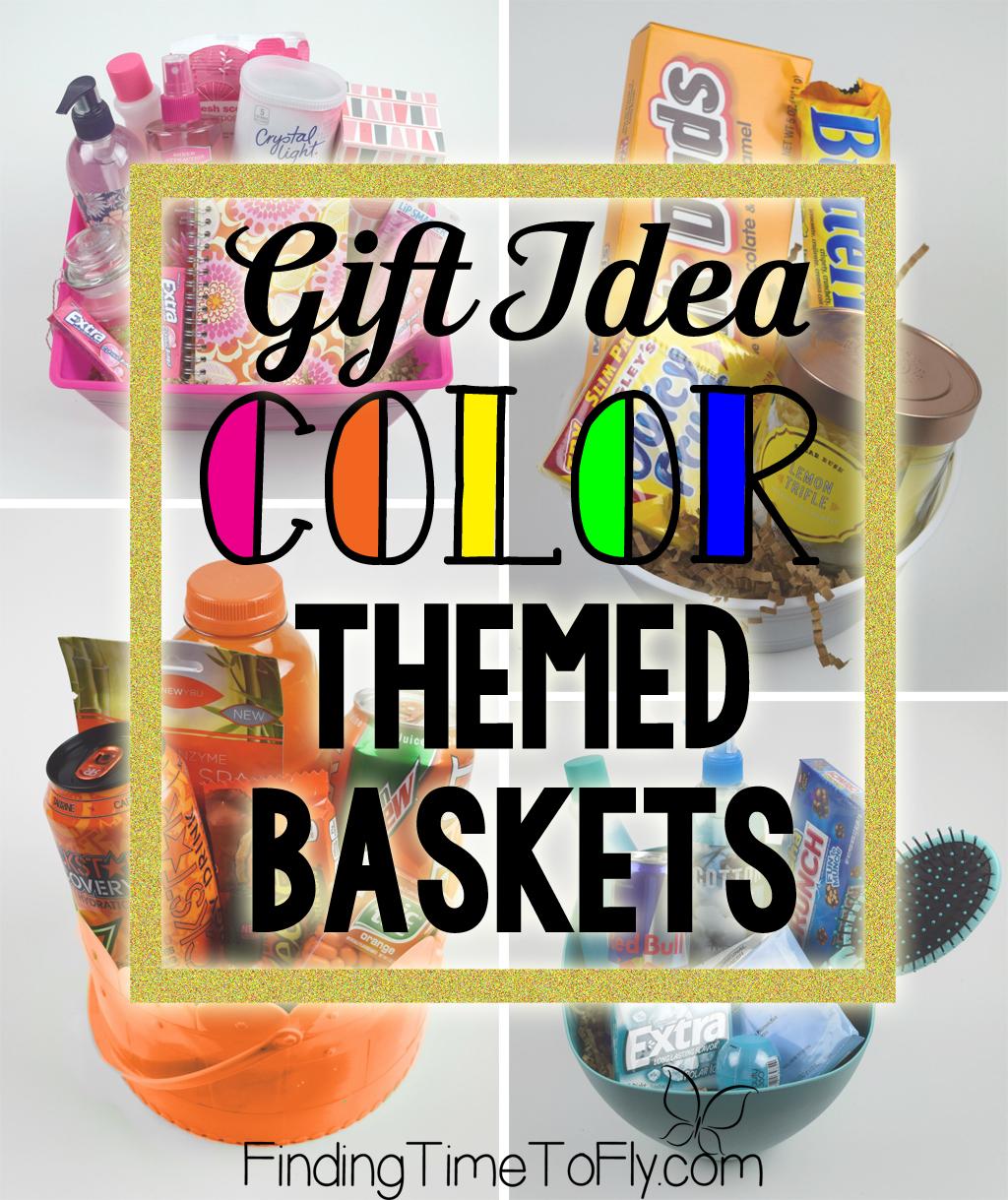 diy gift baskets | color themed gift baskets