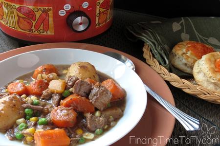 Crock Pot Beef Stew Served