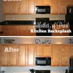 Mother of Pearl Kitchen Backsplash