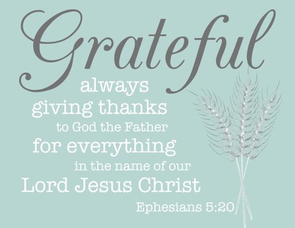 Grateful fall printable