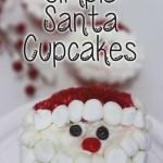 Simple Santa Cupcakes