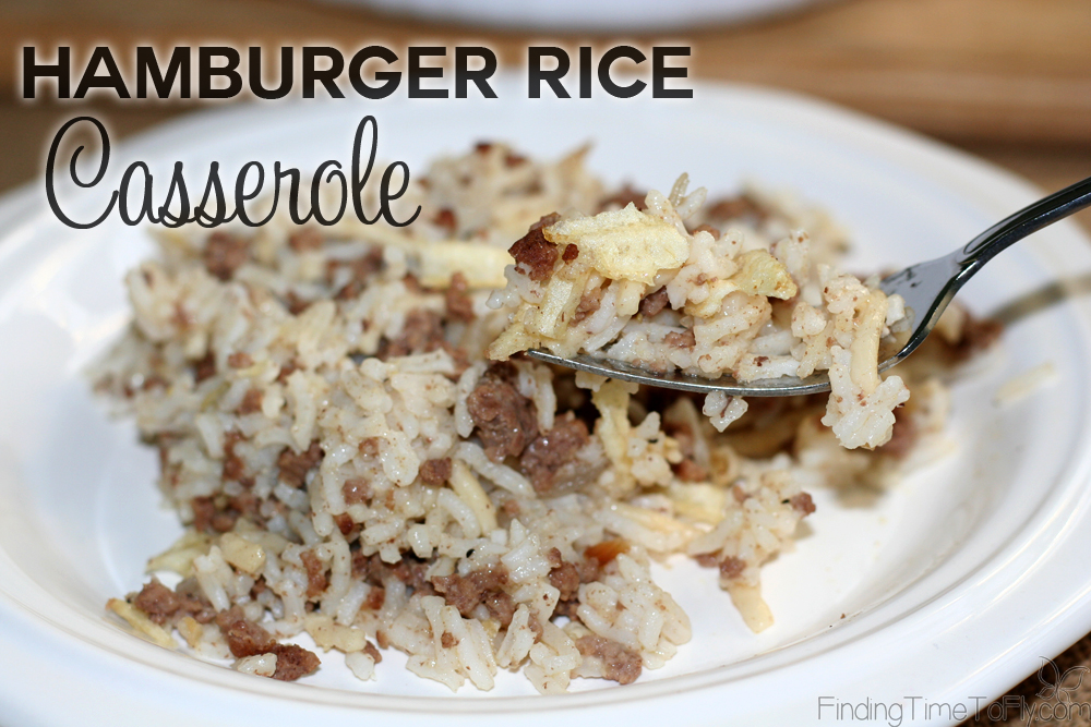 Hamburger rice casserole this looks like something my kids would actually eat i like that it uses common forumfinder Choice Image