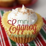 Mini Eggnog Cheesecakes