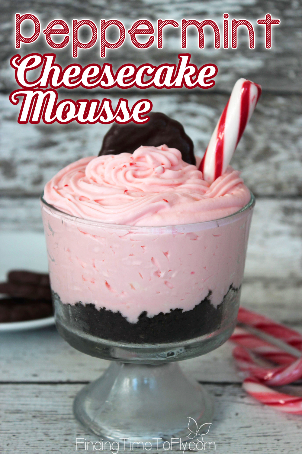What a beautiful dessert to serve guests! This Peppermint Cheesecake Mousse can be made ahead of time and stored in the refrigerator until ready do serve.