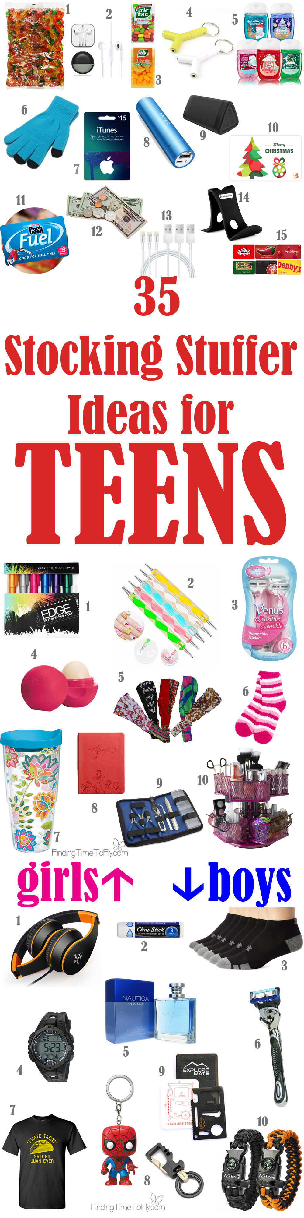 saving this list of stocking stuffer ideas for teenagers what a great list for teens