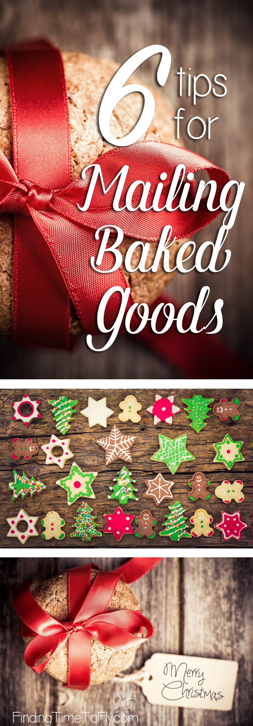 I'll be using these 6 tips for mailing baked goods to send gifts to family far away. Great practical tips for how to mail cookies and other treats.