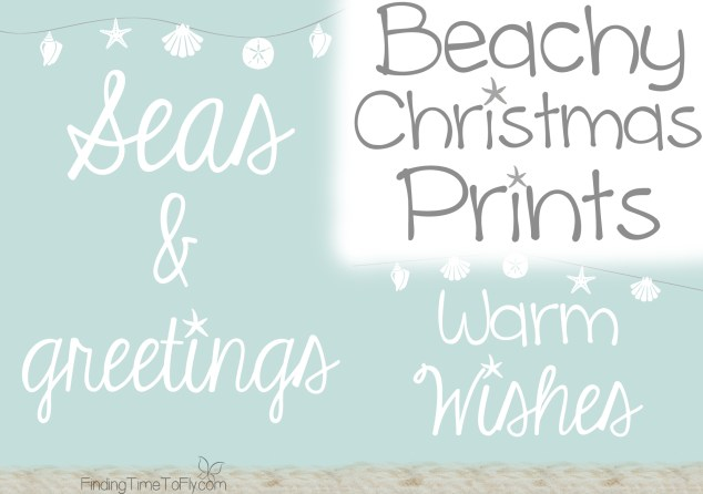 Beachy Coastal Christmas Prints