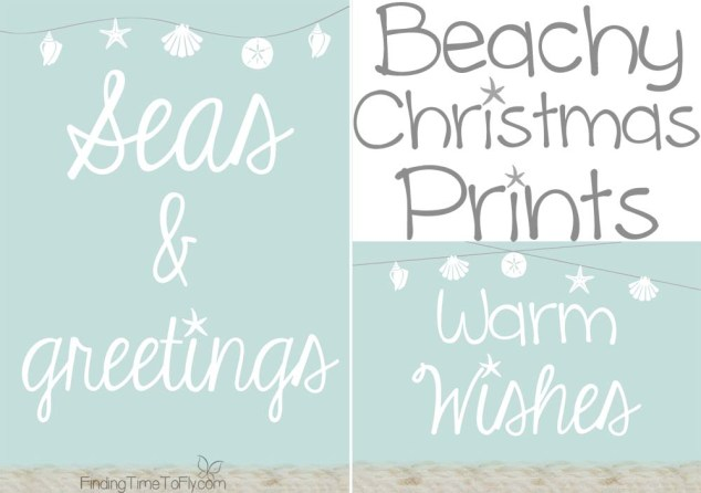 Beachy Coastal Christmas Prints