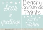 Perfect for a Beachy Coastal Christmas theme! Beachy Christmas printables!