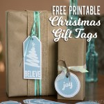Free Printable Christmas Gift Tags in Blue