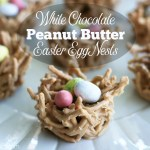 White Chocolate Peanut Butter Easter Egg Nests