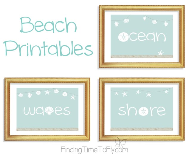 Coastal Decor Beach Prints