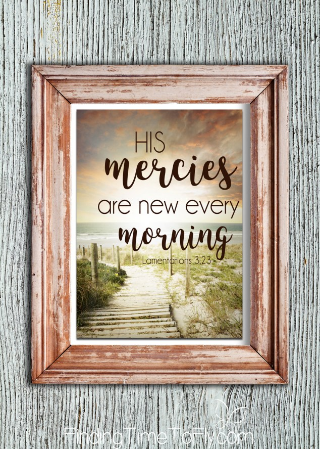His Mercies Are New Every Morning