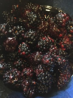 Blackberries marinating