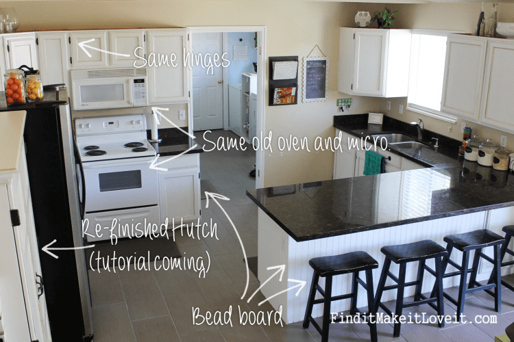 Painted kitchen cabinets DIY (4)
