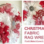 Christmas Fabric Rag Wreath