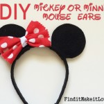DIY Mickey or Minnie Mouse Ears
