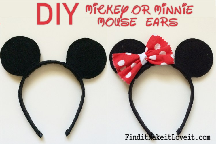DIY Mickey or Minnie Mouse Ears (17)