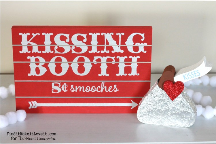 Kissing booth sign and 'hershey kiss' (2)