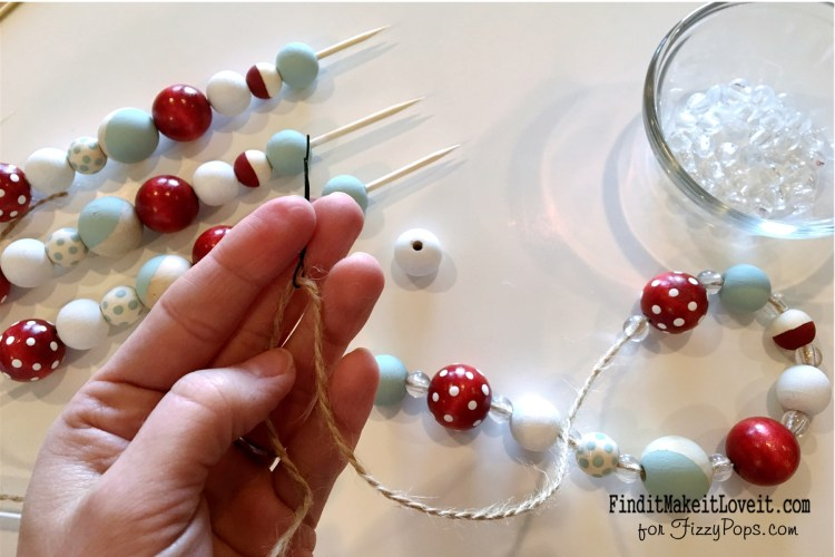 Colored and unfinished wood beads.