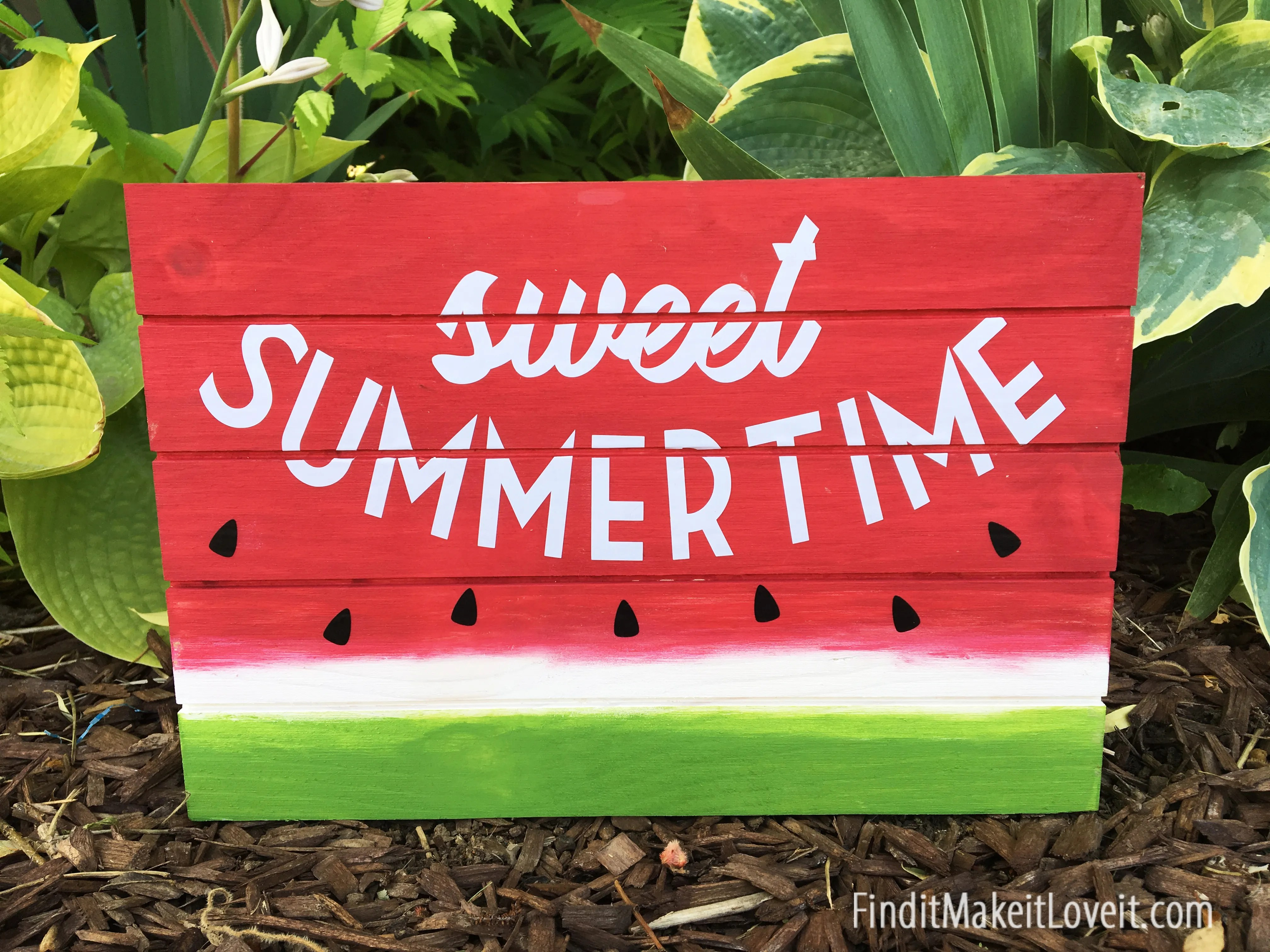 Sweet Summertime Watermelon Sign