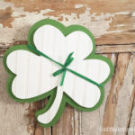 Wood Shamrock Door Hang