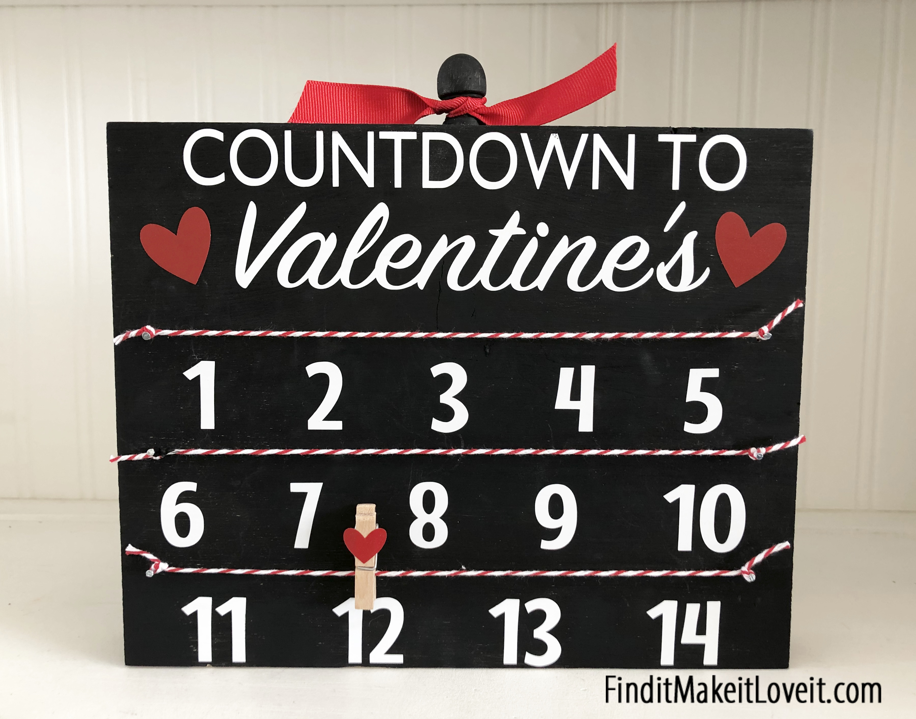Valentine countdown block