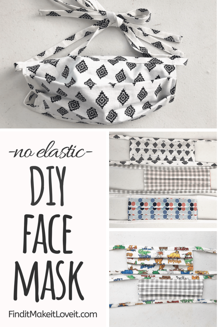 DIY face mask without elastic