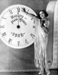 Sally Blane ringing in the New Year 1927-28
